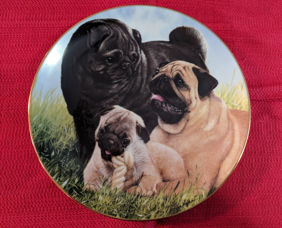 Danbury Mint Proud Pugs
