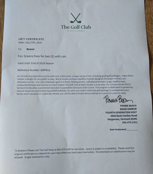 Golf Greens Fees for Two with Cart