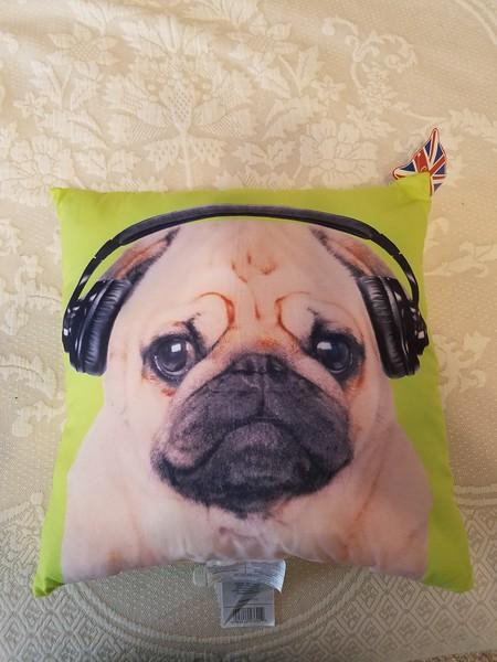 Large Pug Pillow