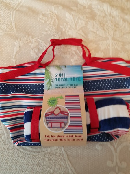 Beach Tote with Towel