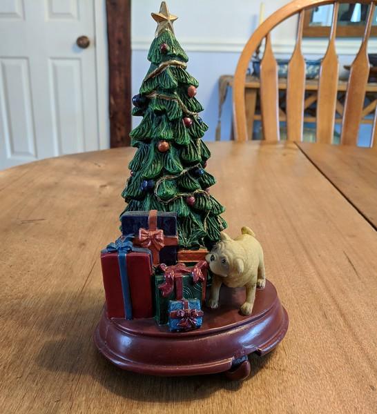 Pug and Christmas Tree Stocking Holder