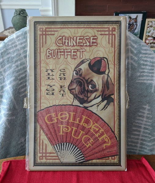 Pug Chinese Buffet Sign