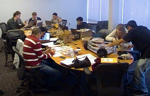 The GORT Teams: 3 Dec 2010....busy at work.