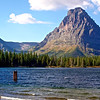Sinopah Mountain (right) stands guard over Two Medicine Lake on a cool, windy day (Fall 2009)