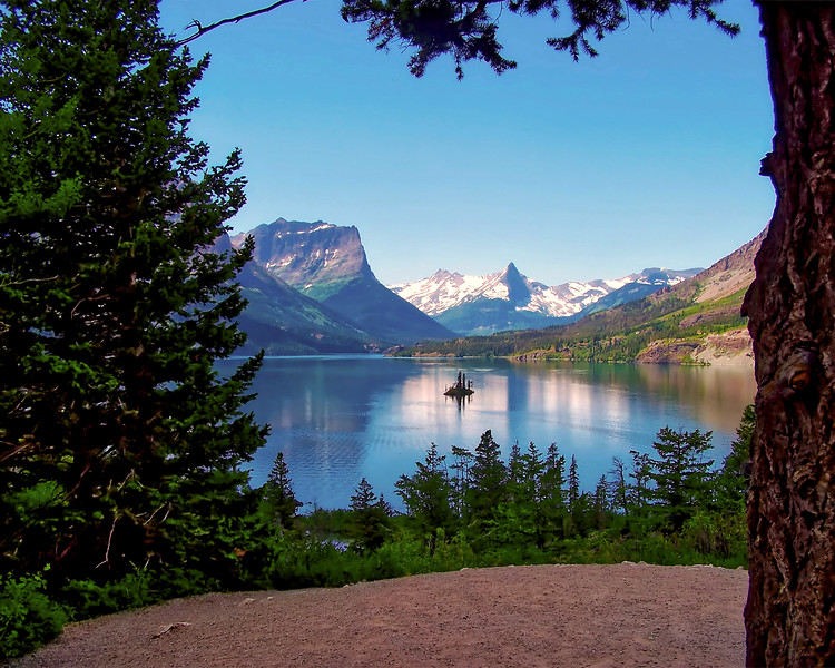 Wild Goose Island (center) on St. Mary Lake, Glacier National Park