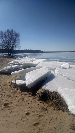 Ice sculpture on East Bay in Acme. Photo by Tina Reed.