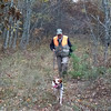 Dennis Waineo and Koda bird hunting. Photo by Leisa Waineo.