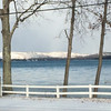 Ice slowly forms on Little Glen Lake. Photo by Sharon Geisler.