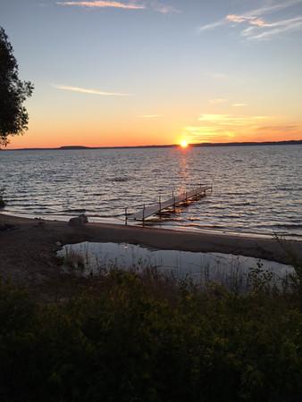 Sunrise over West Bay on an early Saturday bike ride. Photo by Russ VanHouzen.