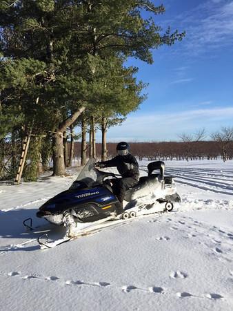 Snowmobiling around Leelanau County in January. Photo by Davina Clark.