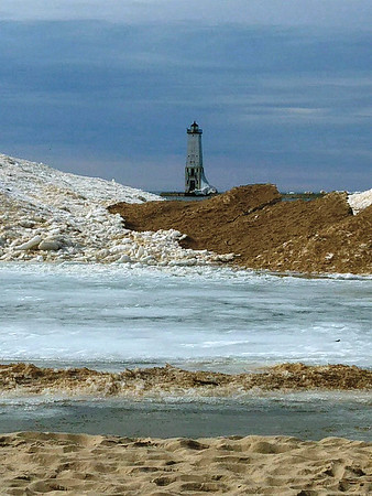 A spring day on the beach in Frankfort. Photo by Donna Weathers.