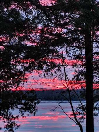 Beautiful color from a deck on Long Lake Peninsula. Photo by Lynn Huffman.