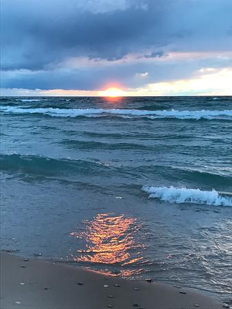 A Valentine's Day sunset at Empire Beach. Photo by Judy Pratt.