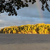 A rainbow over Long Lake Peninsula. Photo by Lynn Huffman.
