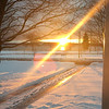Mid-April sunrise. Finally maybe the snow will go away. Photo by Russ VanHouzen.