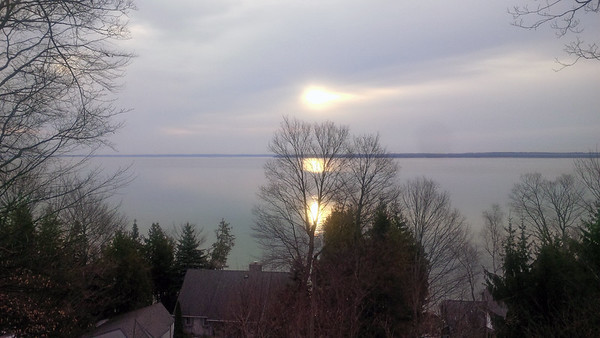 West Bay sunrise in Suttons Bay. Photo by JJ Johnson.