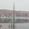First snow on Narada Lake near Port Oneida. Photo by Cathy McKinley.
