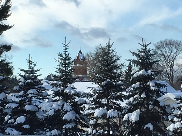 A snow adorned Antrim County Court House.<br /> Photo by Karen Tosterud.