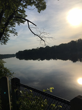 Bike trail along Grand River near Comstock Park on early morning, hot ride. Photo by Russ VanHouzen.
