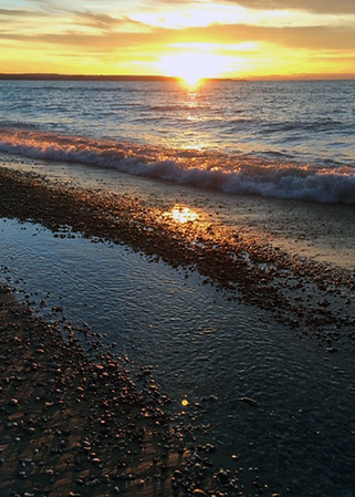 A December Port Oneida sunset. Photo by Janice Cleland.
