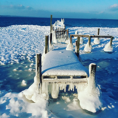 The dock at West Bay Beach Holiday Inn. Photo by Norm Bowbeer