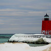 The lighthouse at Charlevoix Channel.  Photo by Janeen Wardie.