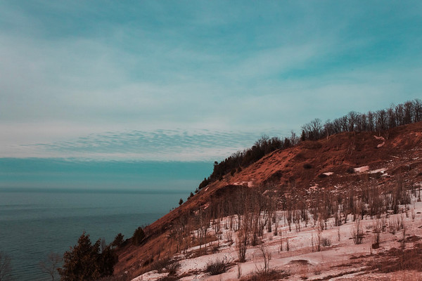Hiking the Sleeping Bear Dunes in Empire. Photo by Emily Bailey Clements.