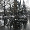 A winter scene reflected in a Gaylord pond. Photo by Dawn Johnston.