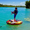 Braedyn MacKeller, 11, finds time to practice on the lake while vacationing with his grandparents. Photo by Sue Swift.