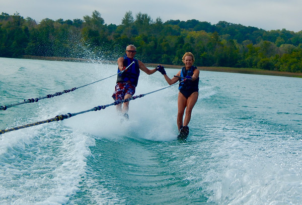 Jerry and Sue Swift, 67, married 48 years and still enjoying waterskiing on Cedar Lake.