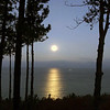 A moon over Lake Michigan from The Homestead resort in Glen Abor. Photo by Karen Hackett.