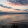 Early morning sunrise over West Bay on bike ride from M-22 turn-out. Photo by<br /> Russ VanHouzen.