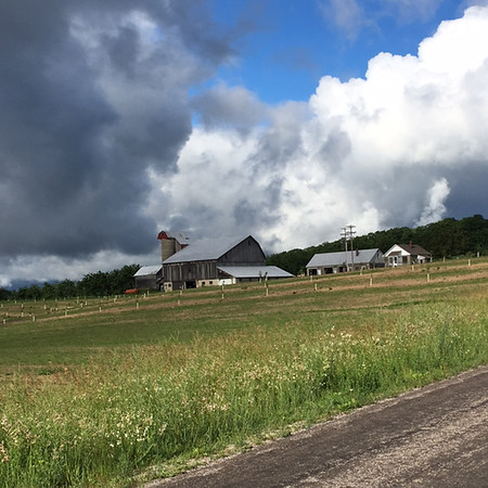 Dodging rain clouds on Kohler road bike ride.<br /> Photo by Russ VanHouzen.