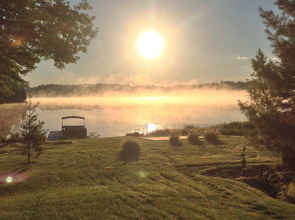 A cool September sunrise over Bass Lake. Photo by Tom O'Rourke.