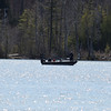 One boat on Lake Leelanau. Photo by Jennifer Grochowalski.
