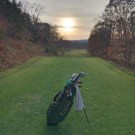 Sunset at the golf course on an early December day, before the snow fell. Photo by Mike Schultz.