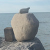 Beach art on Beaver Island. Photo by Meg Benner.