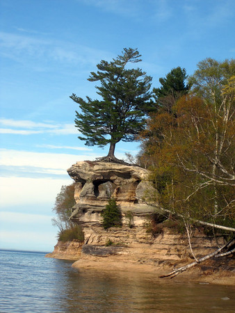 Chapel Rock at Pictured Rocks National Lakeshore Photo by Rick MacKinnon.