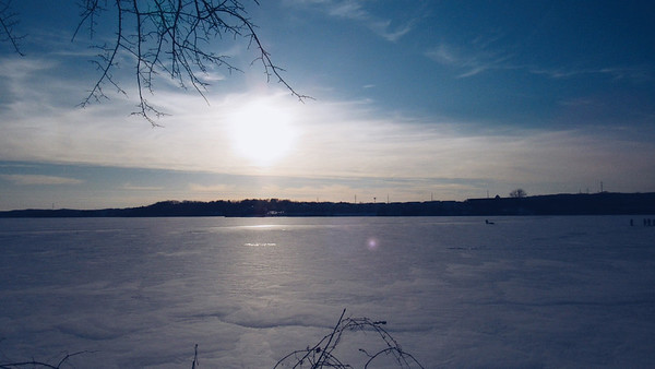 A view of Boardman Lake from behind the Traverse Area District Library. Photo by Michael Novak.