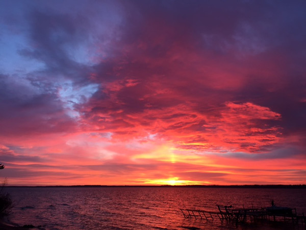 An October sunrise over East Bay from Old Mission peninsula. Photo by Mary McGinnis.