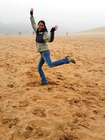 Jessica Mitchell, a chaperone at the Kingsley 2nd grade field trip to the Sleeping Bear Dunes National Lakeshore. Photo by Antoinette Johns.