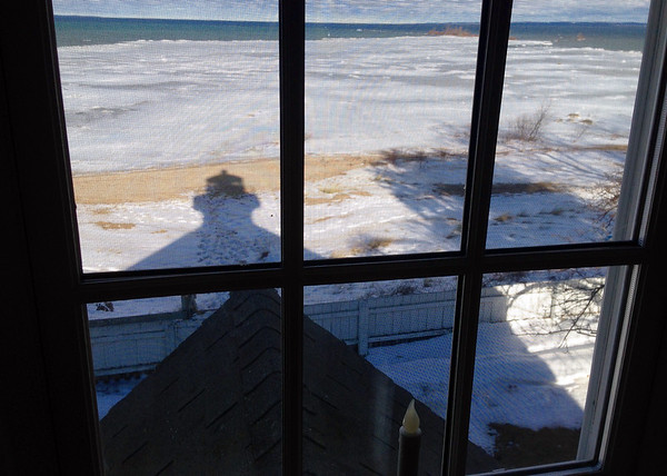 A lighthours keeper's view on the morning's climb up the tower of the Mission Point Lighthouse. Photo by Cecilia Heller.