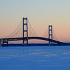 A full wintry view of the mighty Mackinac Bridge. Photo by Janeen Wardie.