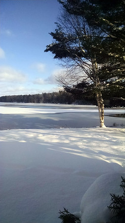 Beautiful winter day at Starvation Lake. Photo by Tina Reed.