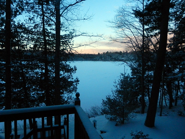 A morning on Mickey Lake. Photo by Lynn Huffman.