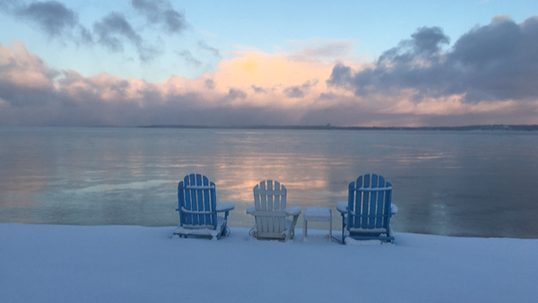 Remember when ... a wintry beach scene on East Grand Traverse Bay. Photo by Angie Glick.