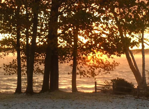 Steamy sunrise over Elk Lake. Photo by Dianne Kilcherman.