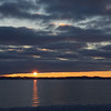 Sunrise taken over West Grand Traverse Bay on M-22 heading for Traverse City. Photo by Cathy McKinley.
