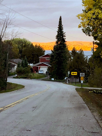An early morning bike ride along Birchpointe Road. Photo by Russ VanHouzen