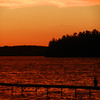 A sunset over Long Lake. Photo by Lynn Huffman.
